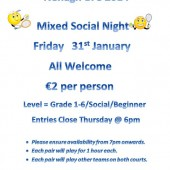 Friday Night Social Tennis – 31st January
