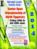 AIB Nenagh Senior Open – Draw & Schedule Of Play