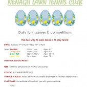 Junior Easter Tennis Camp 2015