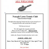 Anyone For Tennis? Club Open Nights