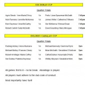 Joe Doran & Dolores Cahalan Saturday & Winter League Finals