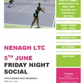 Friday Night Social Tennis – 5th June