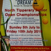 Nenagh Junior Open Championship Sponsored by A Sportsmans Dream