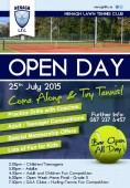 Open Day – This Saturday 25th July