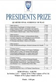 Presidents Prize – Friday Schedule of Play