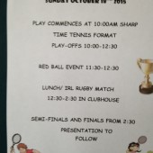 Anne Fitzpatrick / Maloney Junior Cups – Sundays Schedule of Play