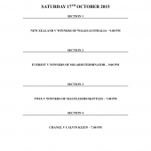 Saturday's Finals Schedule Tadgh O'Flynn Jewellers Classic