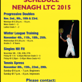 Winter Adult Coaching Schedule