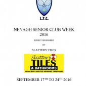 Nenagh Senior Club Week 17th – 24th September
