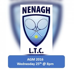 AGM Details Wednesday 25th 8pm