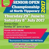 Nenagh AIB Senior Open Week – Thurs 29th June – Sat 8th July