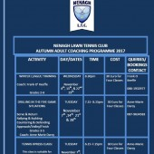 Autumn Adult Coaching Programme 2017