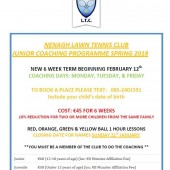 Junior Coaching – Starts February 12th
