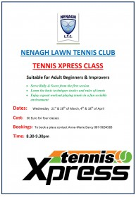 Tennis Xpress Classes Spring 2018