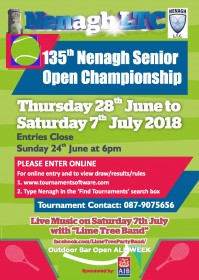 135th Nenagh Senior Open 2018