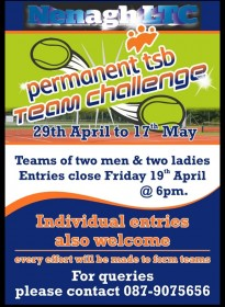 Permanent TSB Team Challenge April 29th – May 17th 2019