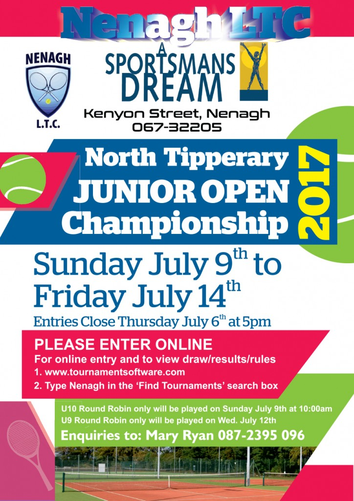 A Sportsmans Dream Nenagh Junior Open 2017